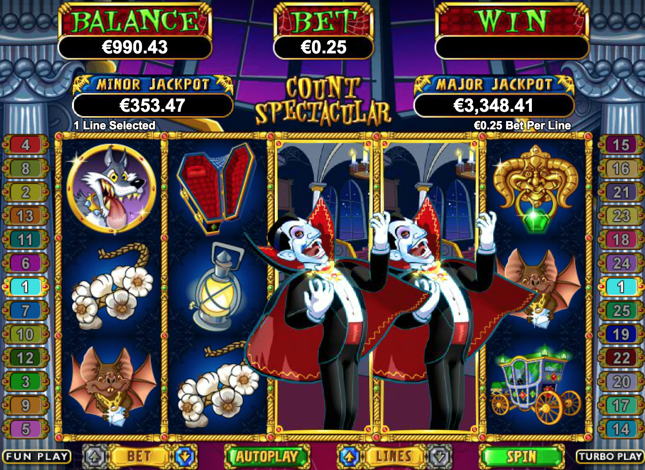 count spectacular gameplay