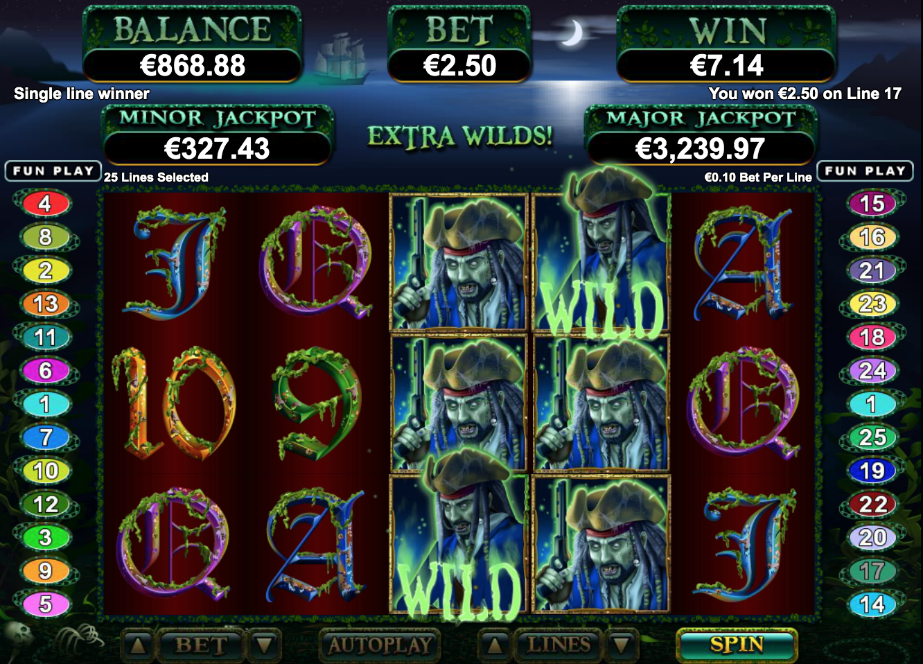 ghost ship slots wilds